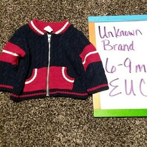 Other - Zip up sweater size 6-9m